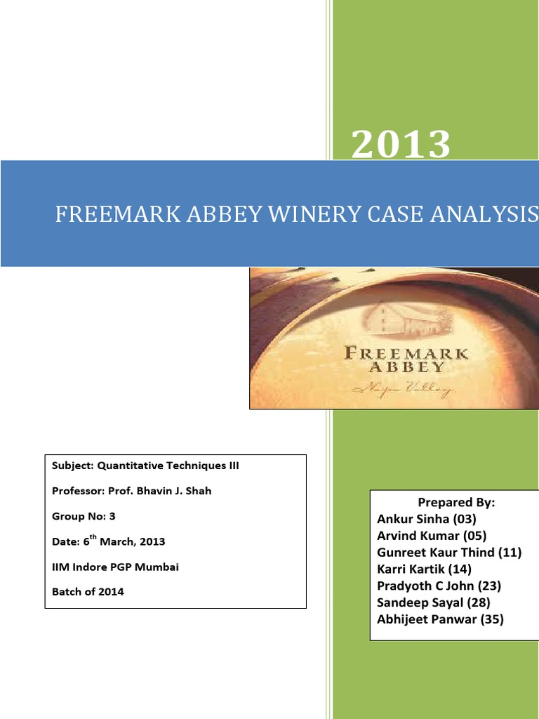 freemark abbey winery case questions 130 reviews of freemark abbey winery kim was our educator since we're so close to to the valley i think the only way to describe it is bombcom-- kim is the best with jeff flattery on the guitar we had an absolute blast trying some of the.