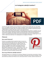Scooperz.nl-hoe Kun Je Pinterest en Instagram Zakelijk Inzetten