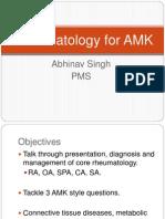Rheumatology for AMK