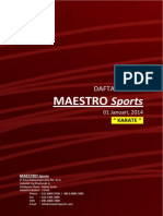 Maestro Sports Price List 01 Januari 2014 Karate