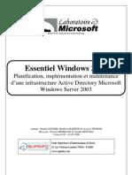 Essentiel Windows 2003