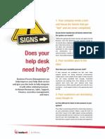 7 Signs Your Help Desk Needs Help