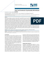 Metabolic Complications and Treatment of Perinatally HIV-Infected