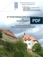 Flyer 6th Postgraduate Symposium on Cancer Research 2014 v111213