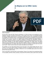 Discurso de Mujica en La ONU