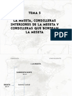 La Meseta, Cordilleras Interiores a La Meseta y Cordilleras Que Bordean La Meseta