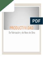 Productividad Fabricacion y m.o.d