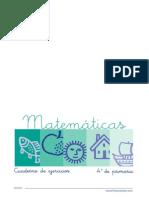 cuadernillo matematicas 4 primaria