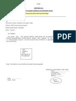 Part B- Bank Certificate