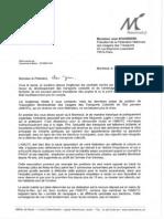 Lettre de Dominique Voynet à la FNAUT