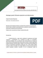 Ideología y poder. El Estado corporativo en la Italia fascista.