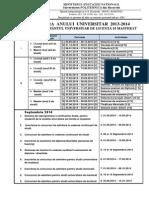 1.Structura an Universitar 2013-2014
