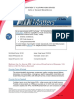 CMS Memo to Providers Regarding ICD-10