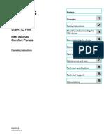 Hmi Comfort Panels Operating Instructions en-US en-US