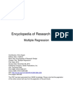Encyclopedia of Research Design-Multiple Regression