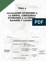 Depresiones Exteriores a La Meseta, Cordilleras Exteriores a La Meseta, Baleares y Canarias