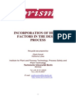 1.0 Incorporation of Human Factors in the Design Process