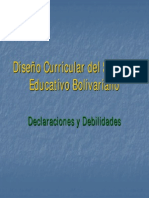 DISEÑO CURRICULAR BOLIVARIANO EN EVENZUELA