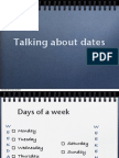 Talking About Dates