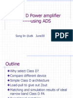 class d amplifier using ADS