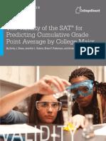 Researchreport 2012 6 Validity Sat Predicting Cumulative Gpa Major