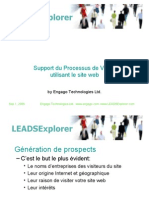 Support Processus Vente Site Web Leads Explorer