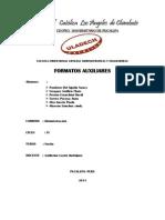 Trabajo de Informatica Aplicada Formatos Auxiliares