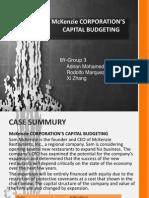 Case Presentation-McKenzie Corporations Capital Budgeting (1)