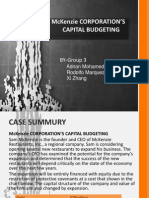 Case Presentation-McKenzie Corporations Capital Budgeting (1)