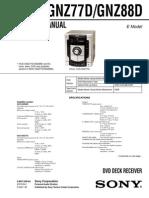 Sony Hcd-gnz77d Gnz88d Ver-1.3 Sch