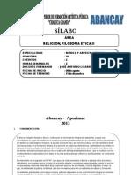 Silabo de Filosofia Etica y Religion.