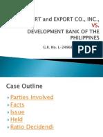 Saura Import and Export VS DBP
