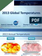 NOAA 2013 Global Temp Report