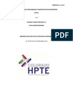 Concession Agreement From HPTE - Feb. 14
