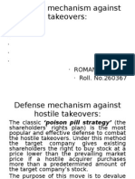 Defense Mechanism Against Hostile Takeovers