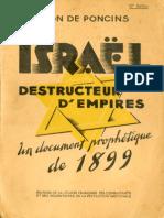De Poncins Leon - Israel Destructeur d Empire Un Document Prophetique de 1899
