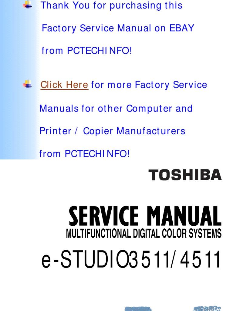 E-Studio 3511, E-Studio 4511 Parts, Service Handbook, Service Manual,  Service Support Guide, Imaging Manual | Battery (Electricity) | Personal  Computers