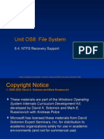 8.4 NTFS Recovery
