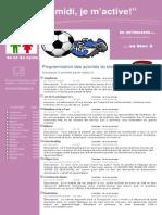 Dépliant publicitaire Activités Mercredis PM Bloc 3 2e et 3e cycle 2013 2014