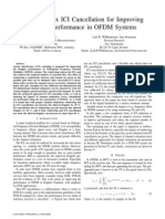 Low-Complex I CI Cancellation f or Improving Doppler Performance in OFDM Systems