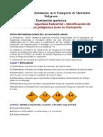 LISTADO DE MERCANCÍAS PELIGROSAS CON CÓDIGO IDENTIFICACIÓN