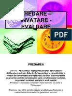 PPT - Pedagogie II - Tema Predare-Invatare-Evaluare