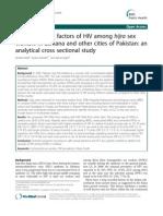 Comparing Risk Factors of HIV Among Hijra Sex