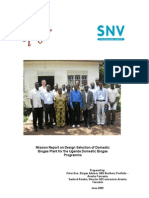 Mission Report on Design Selection of Domestic Biogas Plant Uganda 2009