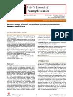 Current Immunosuppression