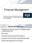 Financial Markets and Instruments - Intro