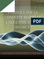 Conseils sur la conduite sexuelle, l'adultere et le divorce