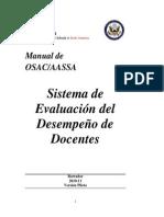 Spanish Version of Teacher Performance Evaluation Handbook