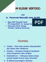 Vertigo Dr. MN Jenie,Sp.S(K) Oktober 2001