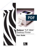 Zebra TLP 2844 DesktopPrinter User Guide